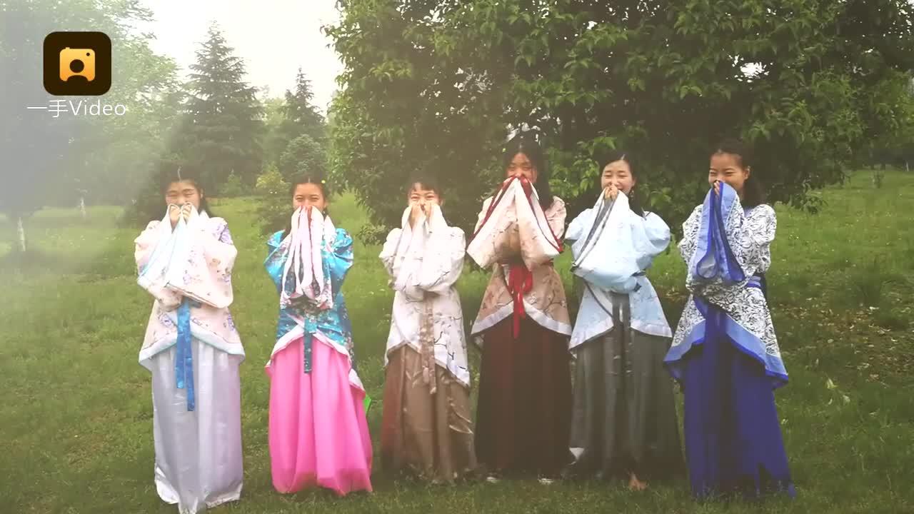 [视频]大4女生穿汉服拍照 送别尼泊尔室友