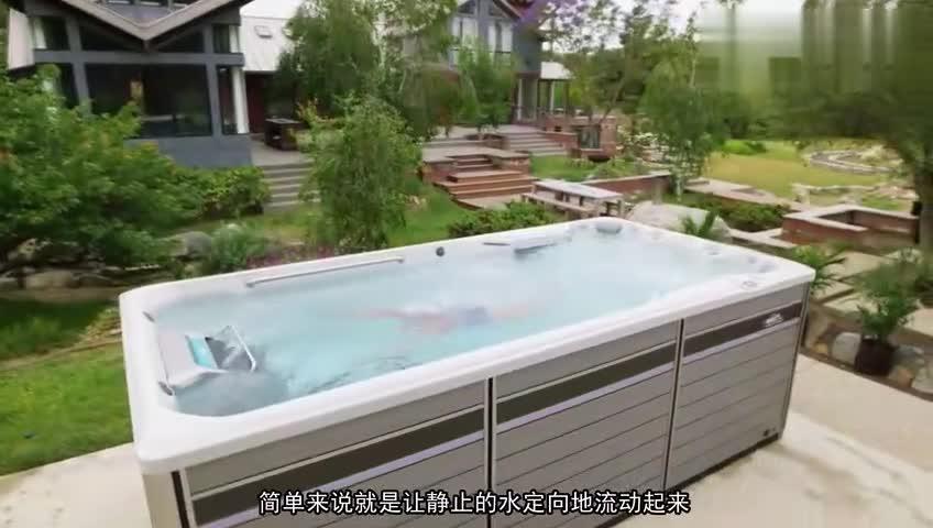 [视频]一张床大小 永远游不到头的泳池 你信吗?