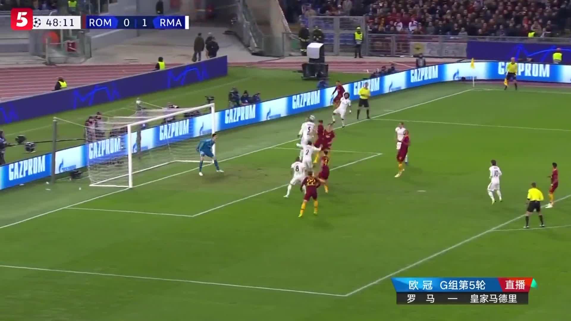[视频]欧冠:皇马2-0双杀罗马出线 贝尔独造2球