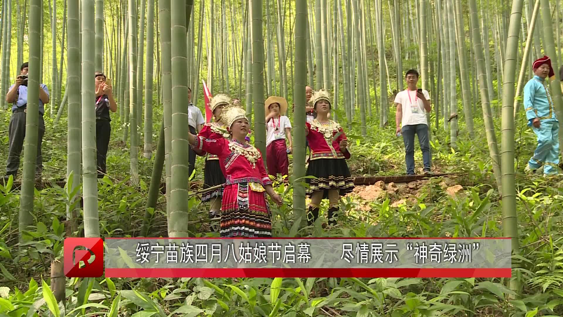 """绥宁苗族四月八姑娘节启幕 尽情展示""""神奇绿洲"""""""