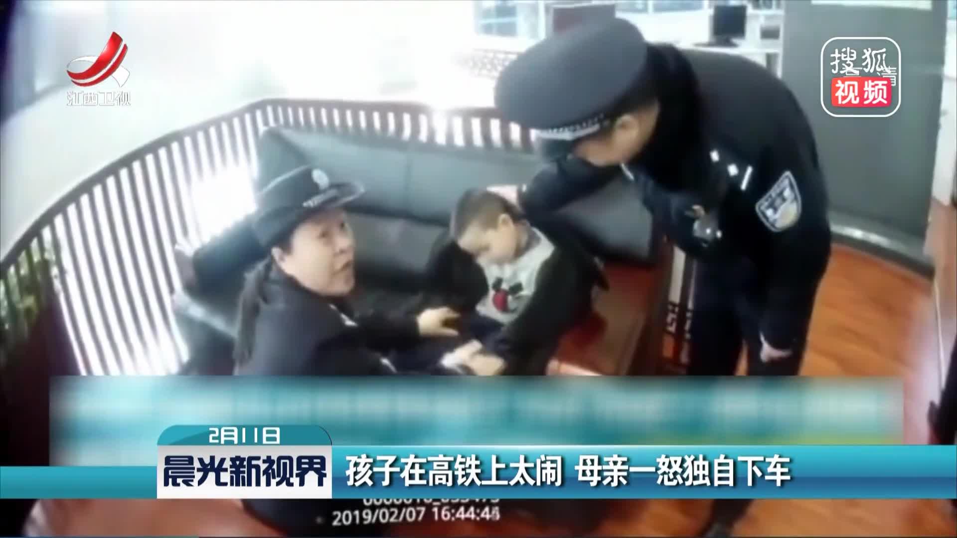[视频]孩子在高铁上太闹 母亲一怒独自下车