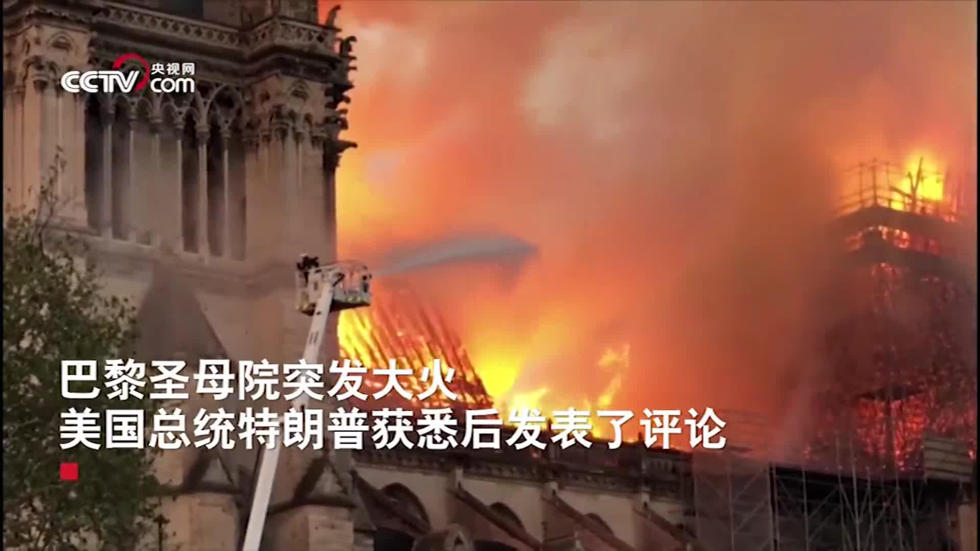 [视频]美国总统获悉巴黎圣母院遭遇火灾感慨:真是一幅恐怖的景象
