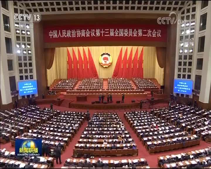 [视频]全国政协十三届二次会议举行第三次全体会议