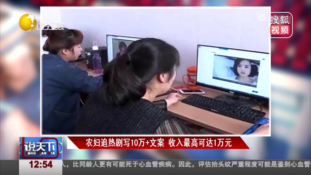 [视频]农妇追热剧写10万+文案 收入最高可达1万元