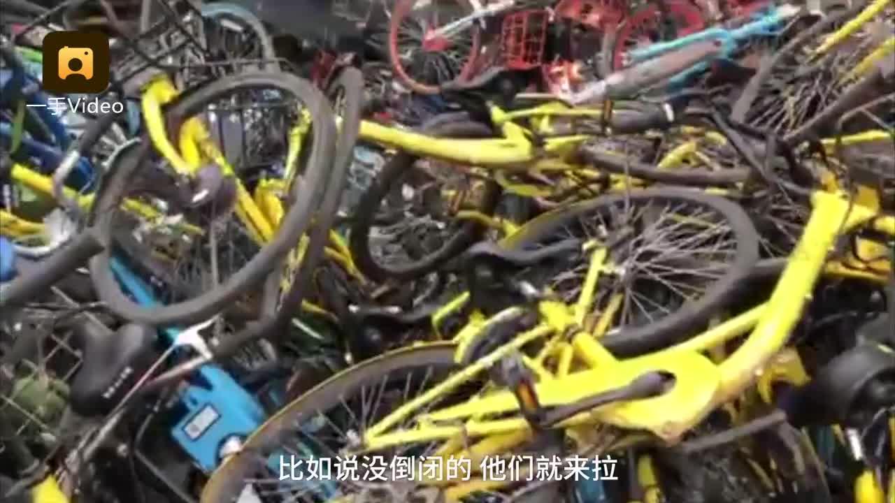 [视频]共享单车堆积如坟墓 罩黑布弃江边