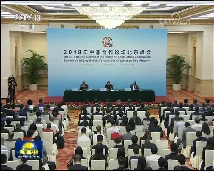 [视频]习近平同中非合作论坛前任共同主席国和新任共同主席国元首共见记者