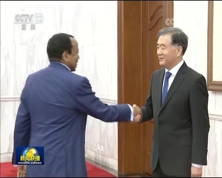 [视频]汪洋会见喀麦隆总统
