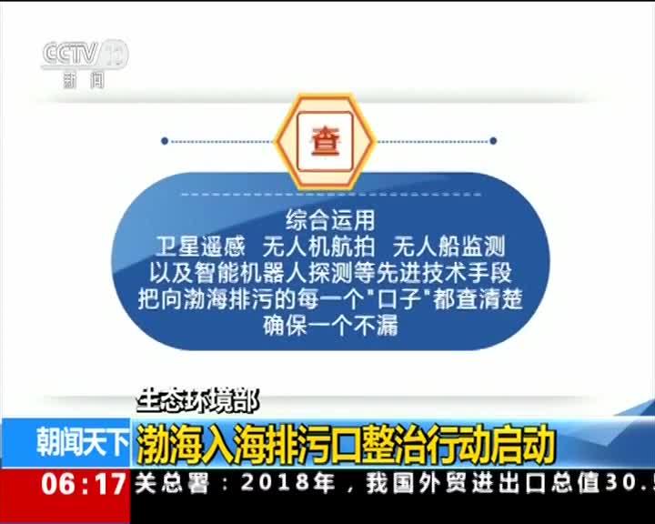 [视频]生态环境部 渤海入海排污口整治行动启动