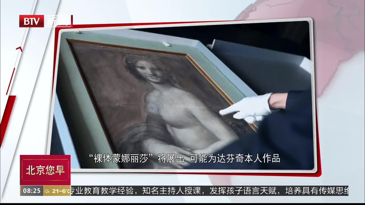 """[视频]""""裸体蒙娜丽莎""""将展出 可能为达芬奇本人作品"""