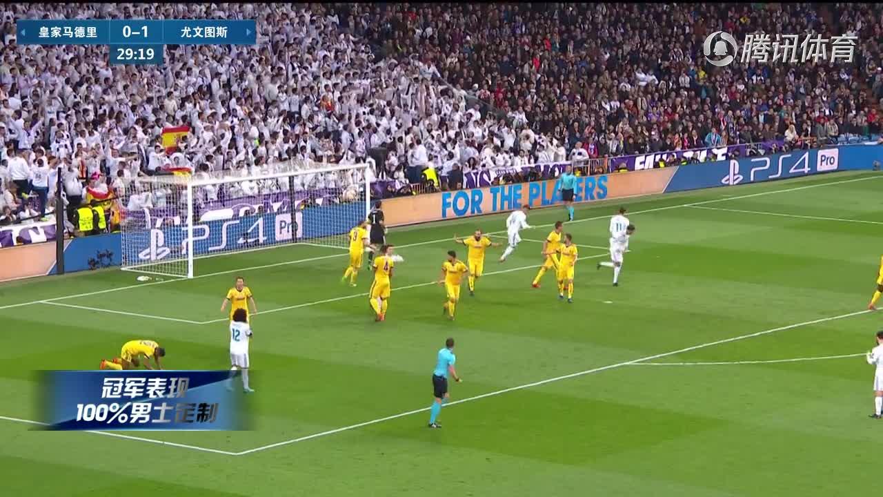 [视频]C罗97分钟绝杀!皇马总分4-3尤文 惊魂晋级欧冠4强