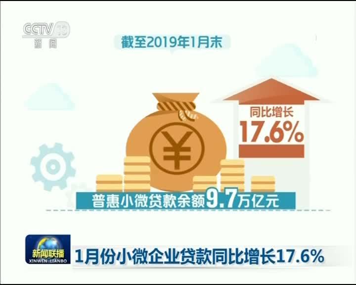 [视频]1月份小微企业贷款同比增长17.6%