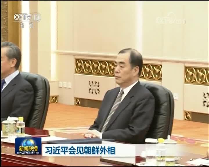 [视频]习近平会见朝鲜外相