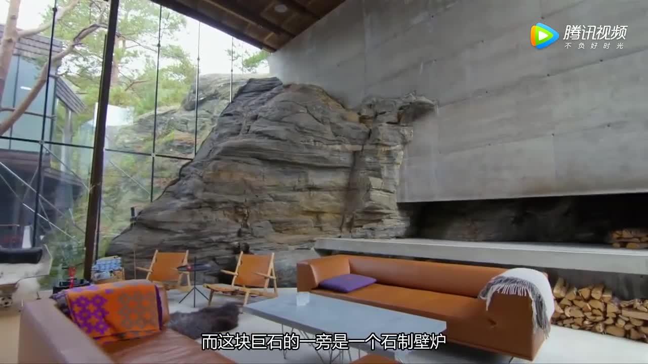 [视频]房间里有悬崖?挪威山间的绝景别墅