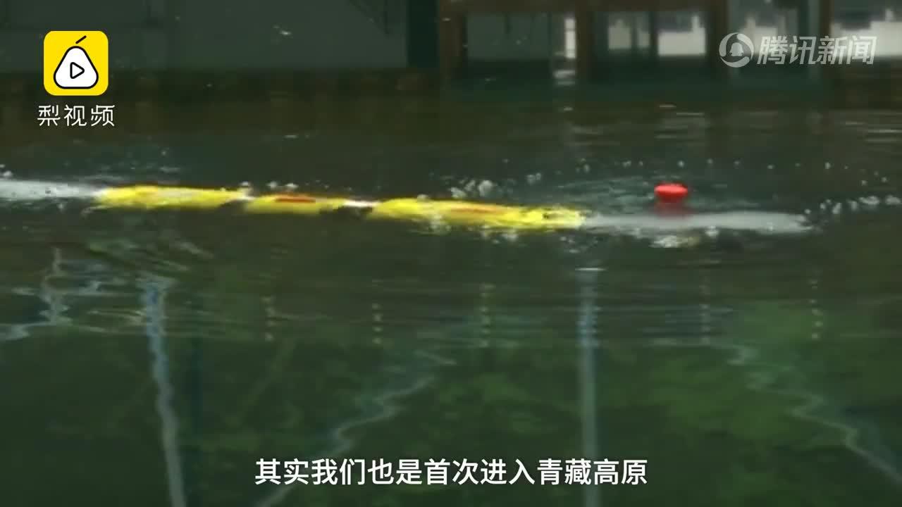 [视频]博士生造水下机器人 首次青藏高原下水 一次性探明水文信息
