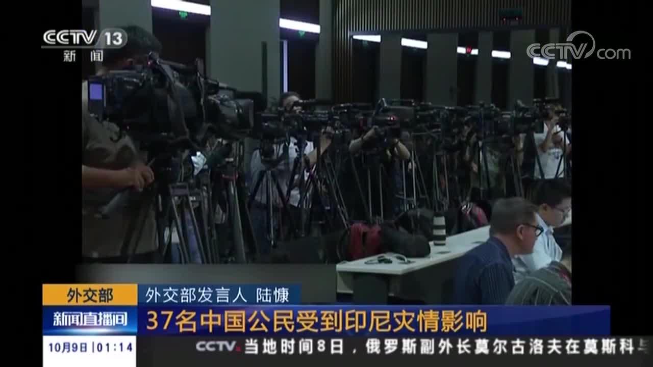 [视频]外交部 37名中国公民受到印尼灾情影响