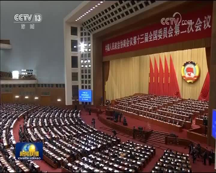 [视频]全国政协十三届二次会议举行第二次全体会议