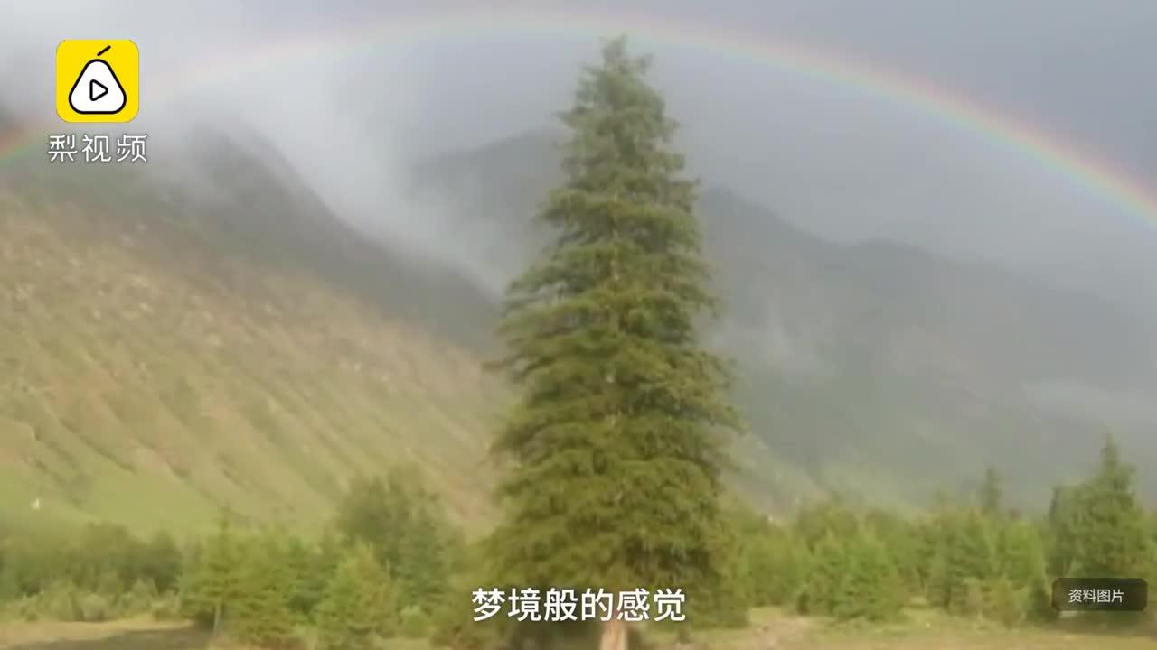 [视频]昭苏大草原彩虹看到腻 夏日出现160次