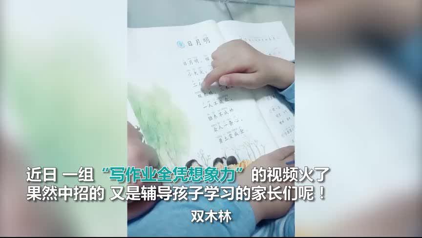 [视频]做作业全凭想象力!萌娃让家长哭笑不得