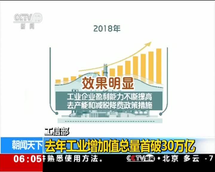 [视频]工信部 去年制造业投资保持不断增长