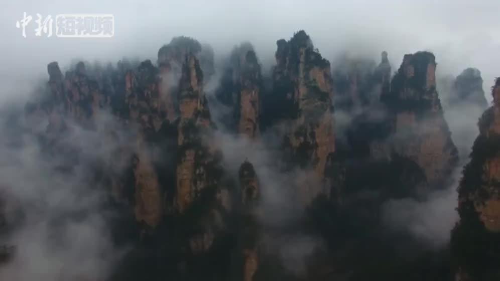 [视频]张家界武陵源峰林云海美如画