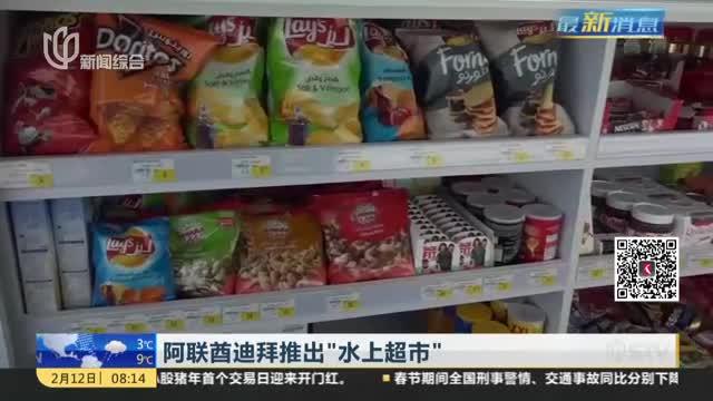"""[视频]阿联酋迪拜推出""""水上超市"""""""
