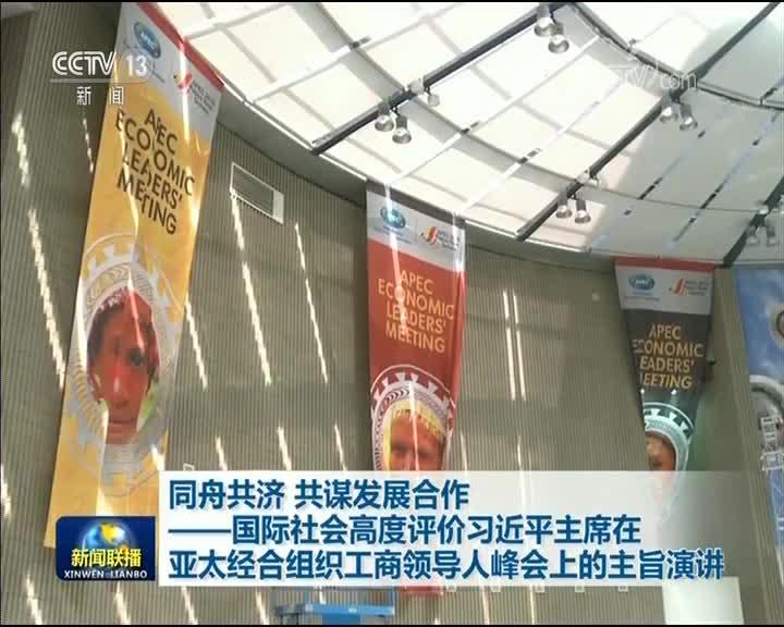 [视频]同舟共济 共谋发展合作——国际社会高度评价习近平主席在亚太经合组织工商领导人峰会上的主旨演讲