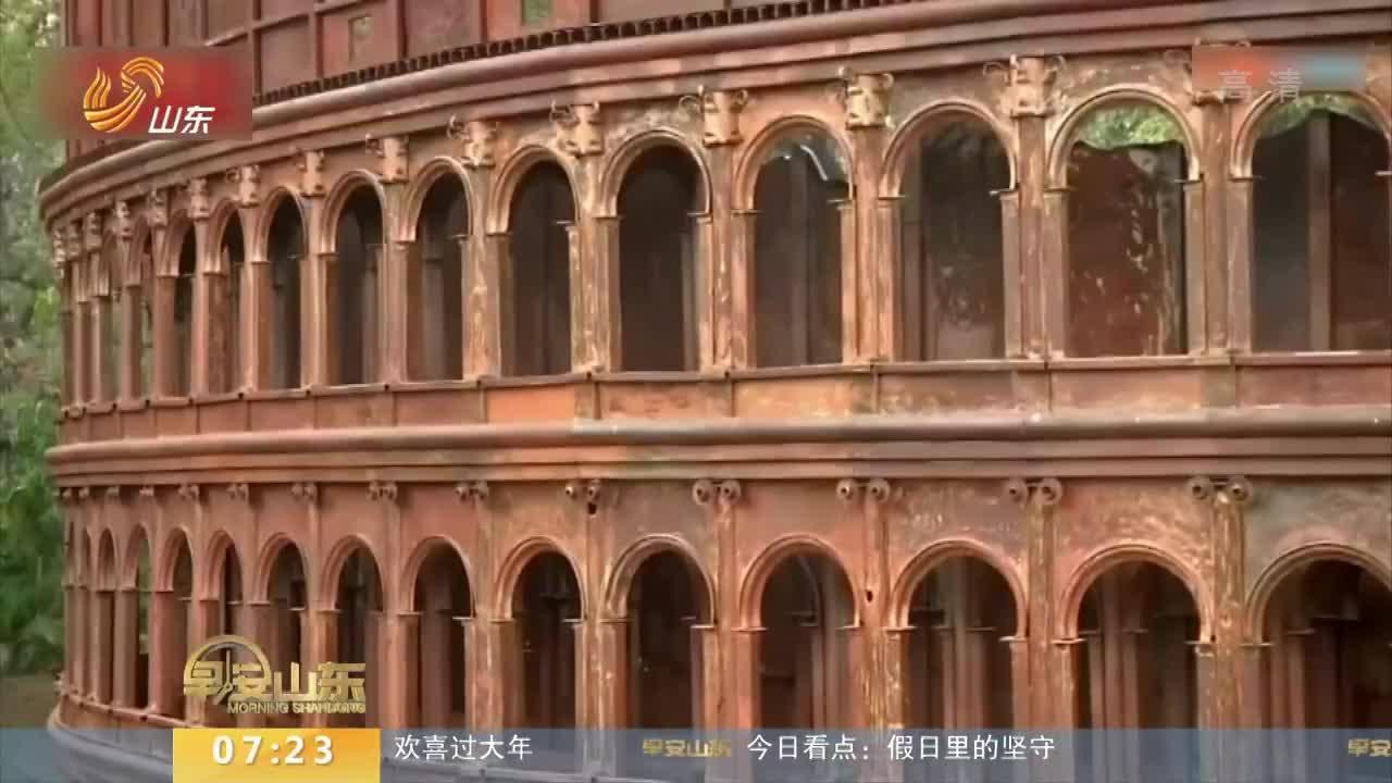 [视频]印度艺术家用废旧金属建造世界七大奇迹