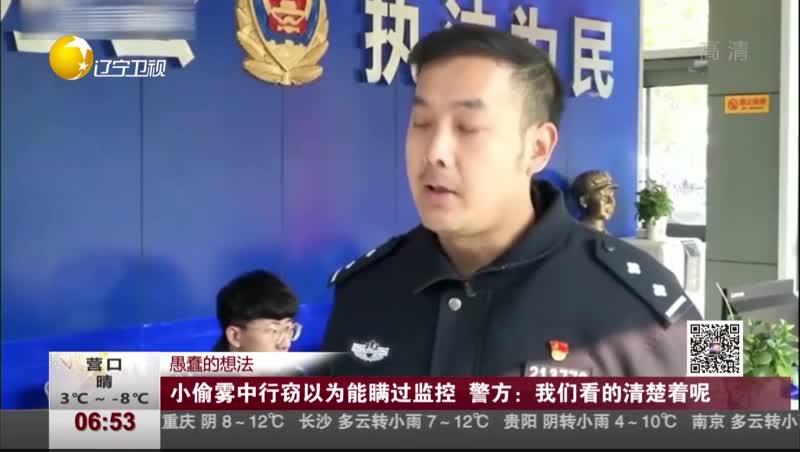 [视频]小偷雾中行窃以为能瞒过监控 警方:我们看的清楚着呢