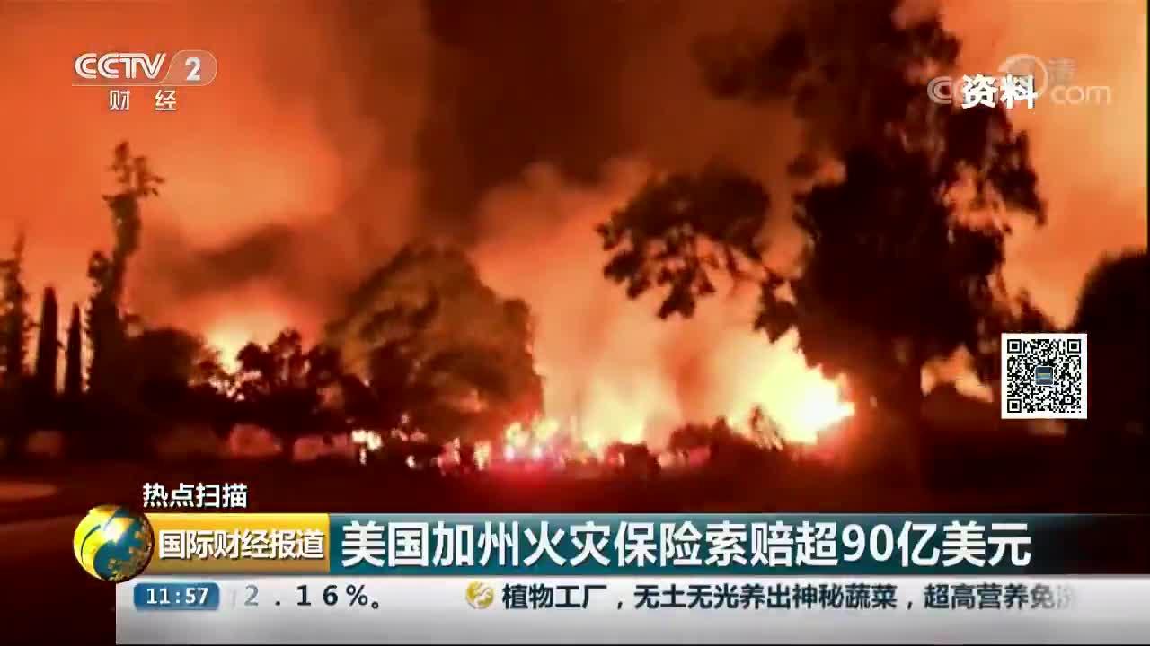[视频]美国加州火灾保险索赔超90亿美元