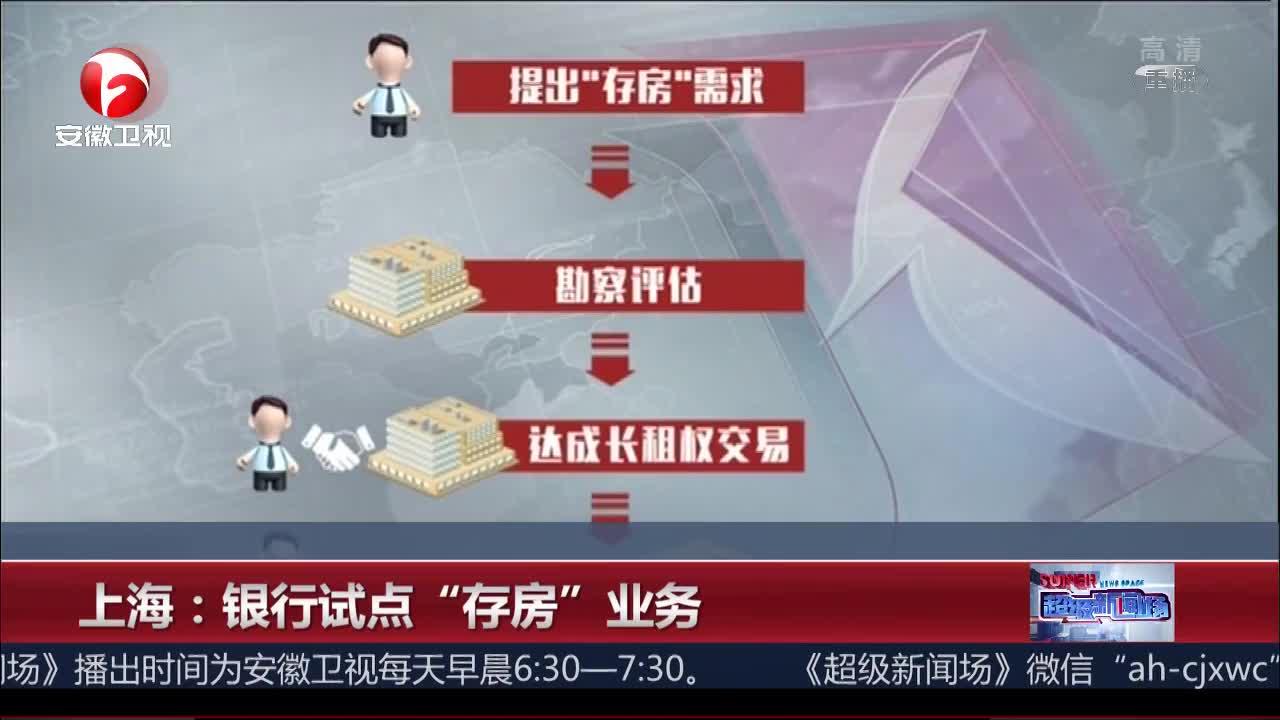 """[视频]上海:银行试点""""存房""""业务"""