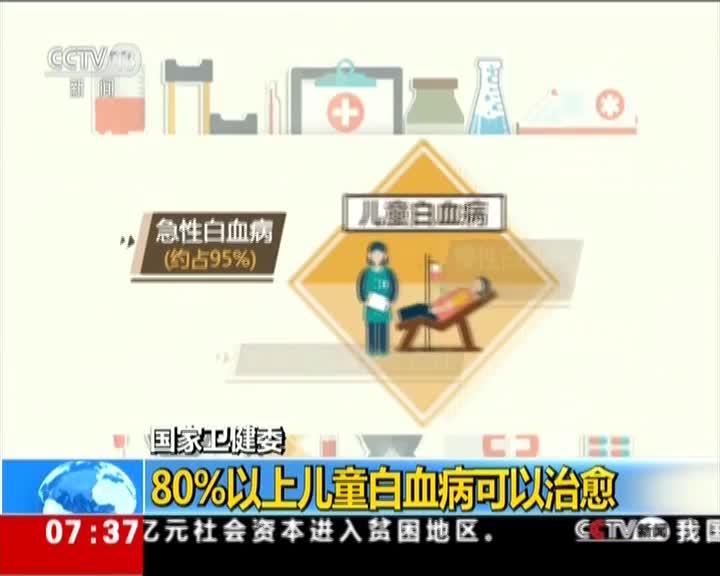 [视频]国家卫健委:80%以上儿童白血病可以治愈