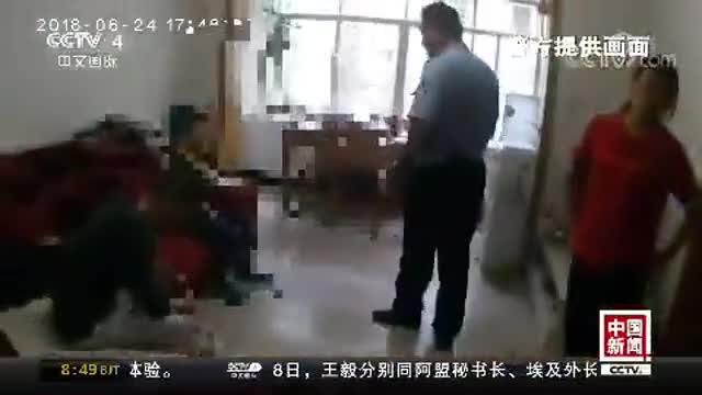 """[视频]云南昆明:9岁男孩不背课文挨打 报警称""""被父母虐待"""""""