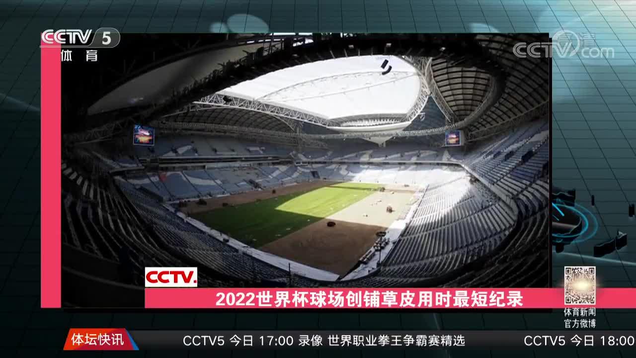 [视频]2022世界杯球场铺草皮用时最短纪录