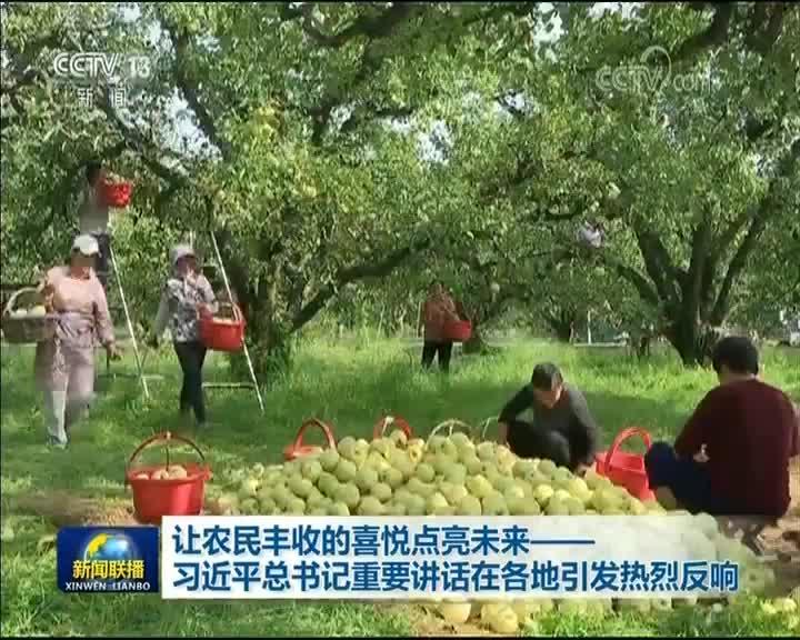 [视频]让农民丰收的喜悦点亮未来——习近平总书记重要讲话在各地引发热烈反响