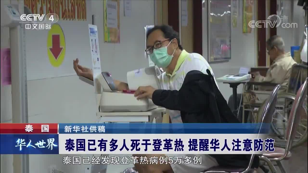 [视频]泰国已有多人死于登革热 注意防范