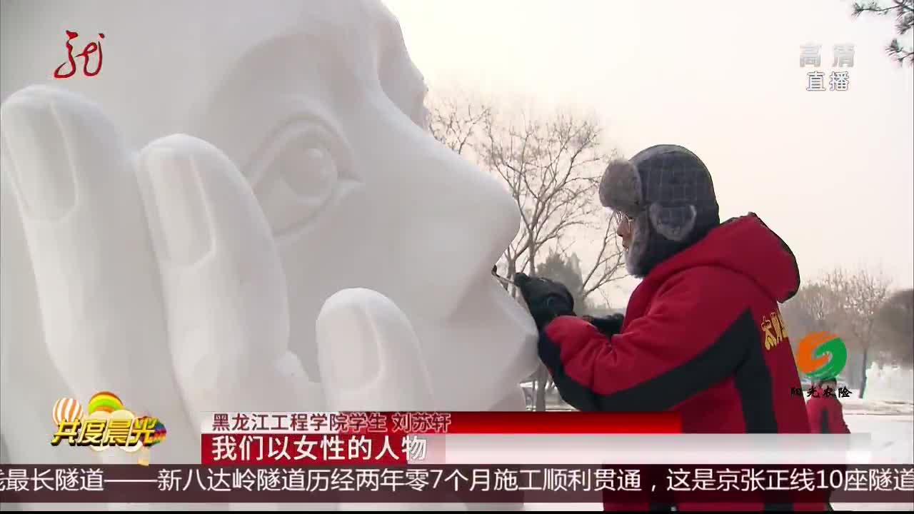 [视频]哈尔滨:雪间飞铲 雕刻青春
