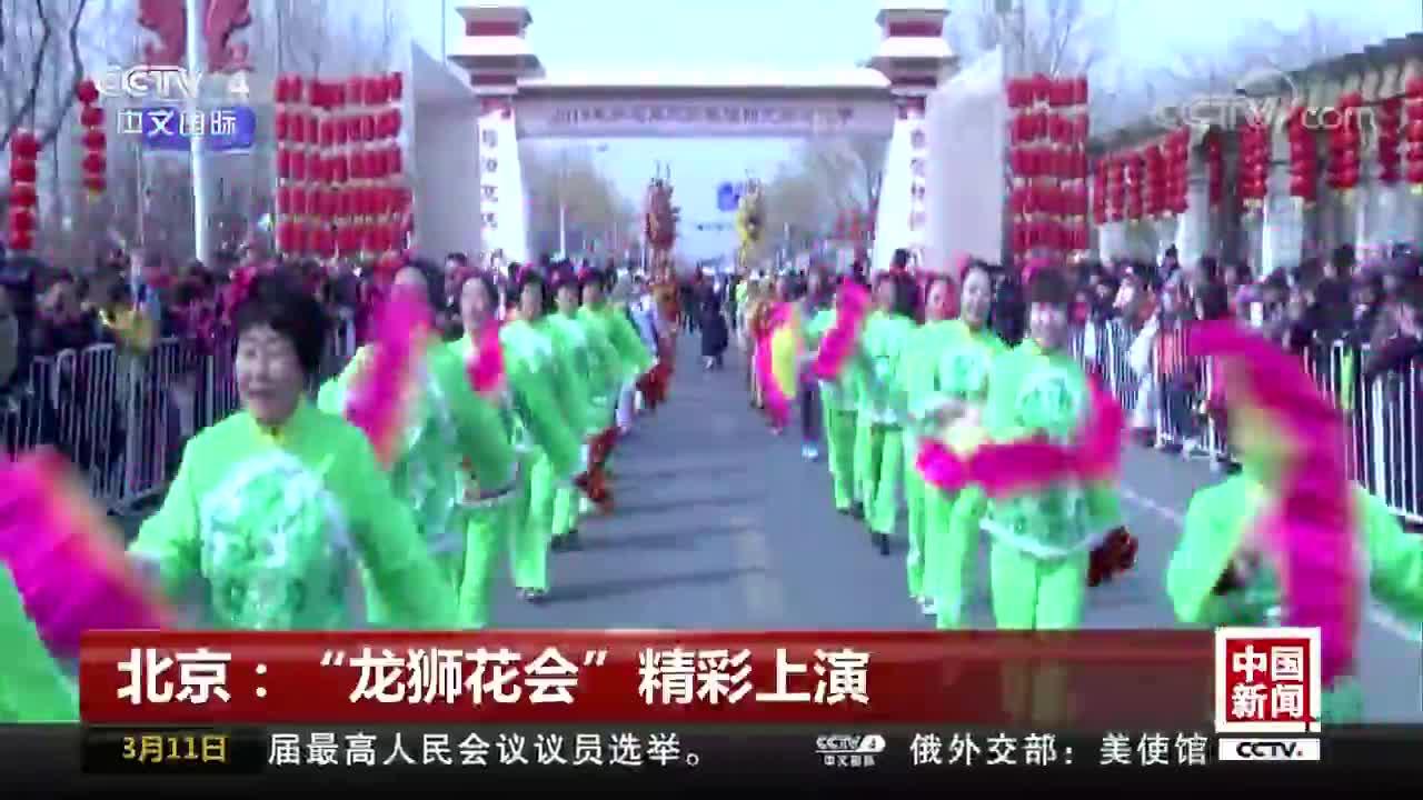 """[视频]北京:""""龙狮花会""""精彩上演"""