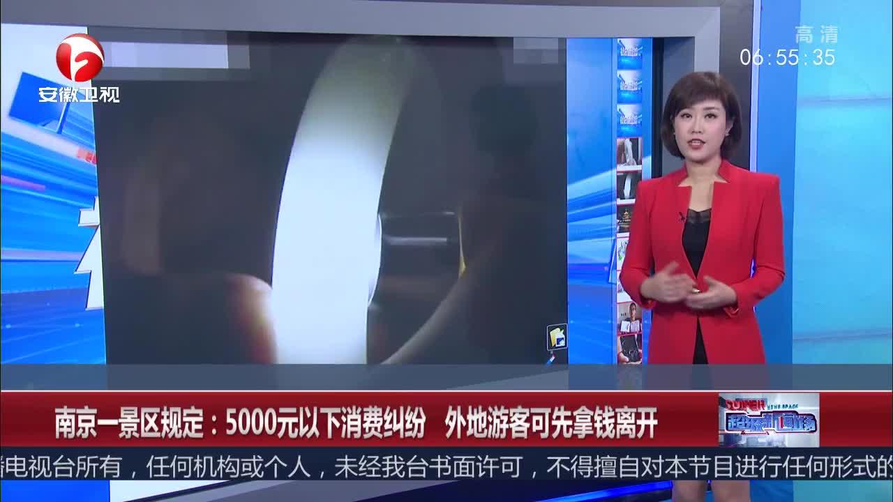 [视频]南京一景区规定:5000元以下消费纠纷 外地游客可先拿钱离开
