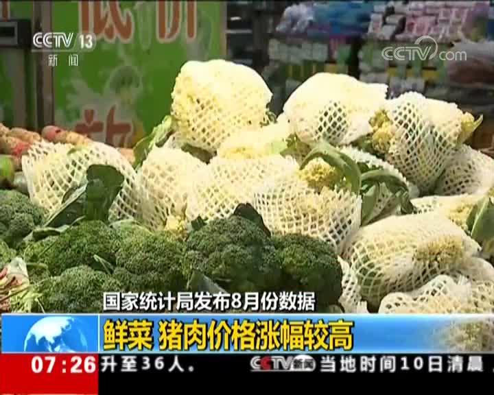 [视频]国家统计局:8月份物价保持总体稳定