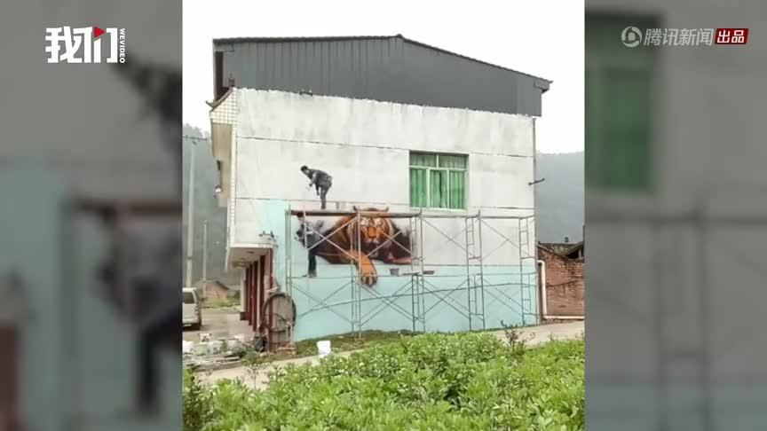[视频]村庄投资80万在58栋民房外墙画3D漫画 村支书:吸引人气发展旅游