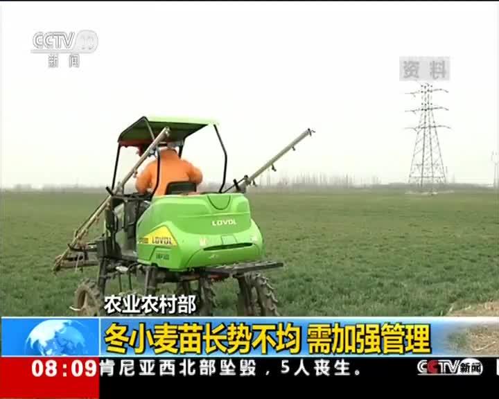 [视频]农业农村部:全国春耕备耕工作全面展开