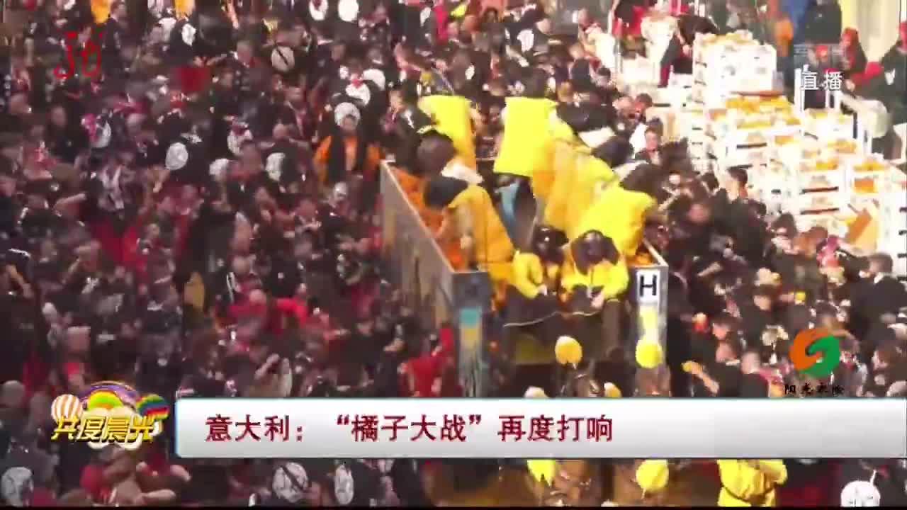 """[视频]意大利:""""橘子大战""""再度打响"""