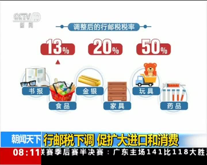 [视频]行邮税下调 促扩大进口和消费