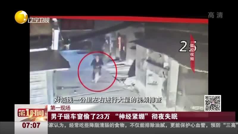 """[视频]男子砸车窗偷了23万 """"神经紧绷""""彻夜失眠"""