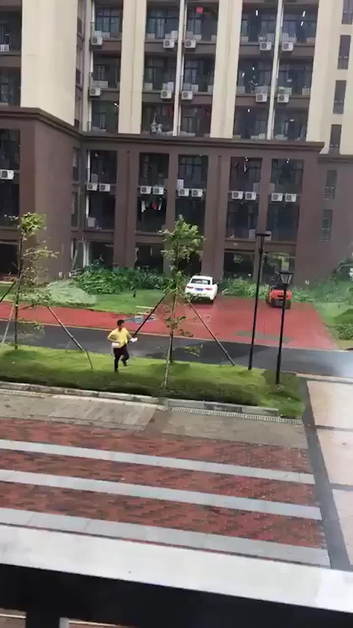 [视频]美团回应外卖小哥台风天摔倒:是高校大学生