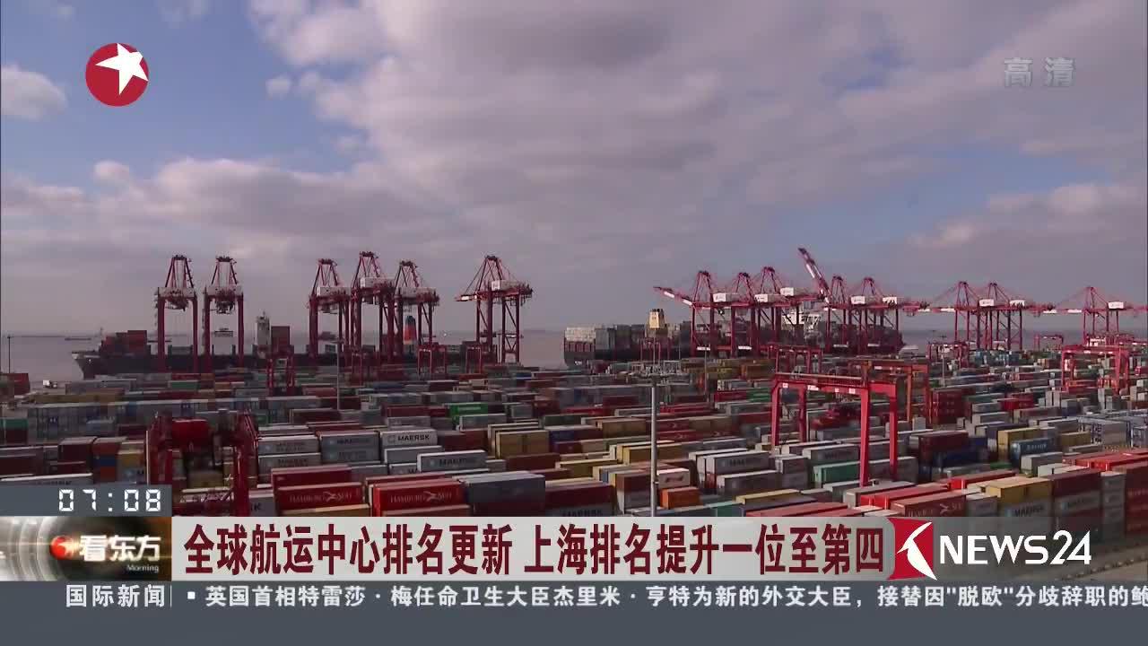 [视频]全球航运中心排名更新 上海排名提升一位至第四