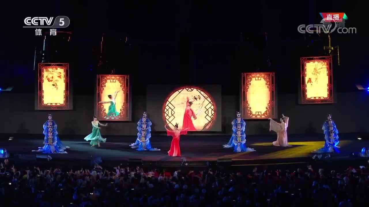 """[视频]亚运会闭幕式:""""杭州八分钟""""带来精彩视觉盛宴"""