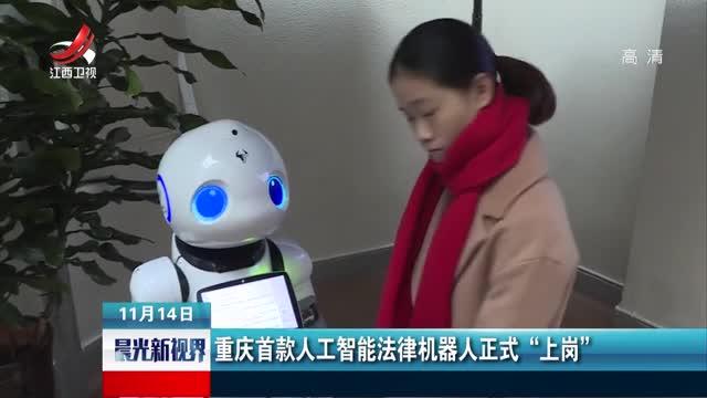 """[视频]重庆首款人工智能法律机器人正式""""上岗"""""""