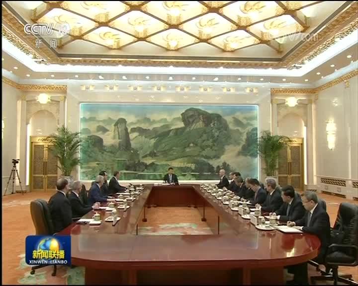 [视频]习近平会见美国贸易代表和财政部长