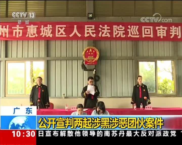 [视频]广东:公开审判两起涉黑涉恶团伙案件